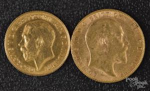 1904 Edward VII British Sovereign gold coin