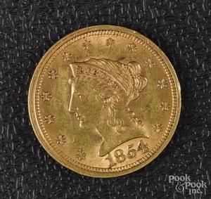 US 1854 Liberty Eagle gold coin