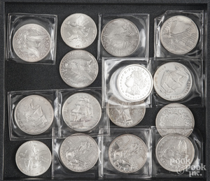 Fifteen 1 ozt. silver coins