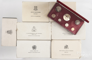 Eight Franklin Mint proof sets.