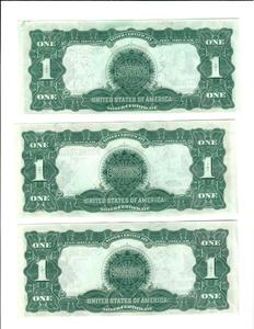 10 series 1899 one dollar silver certificates.