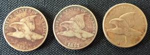 Seven Liberty Head pennies