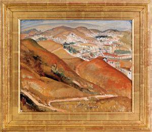 Rinaldo Cuneo (American, 1877-1939), oil on boarda