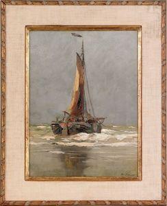 Charles Paul Gruppe (American, 1860-1940), oil ona