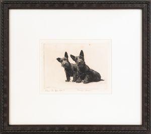 Morgan Dennis (American, 1892-1960), engraving ofw