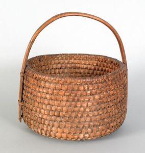 Pennsylvania rye straw gathering basket