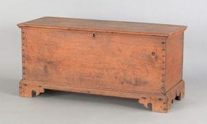 Diminutive Pennsylvania walnut blanket chest