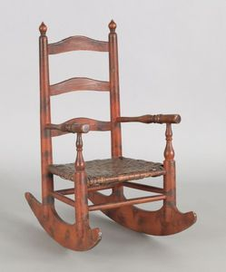Pennsylvania painted child's rocking chair, 19th c