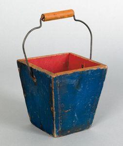 Small Pennsylvania pine berry pail, 19th c., retai