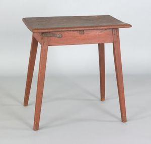Pennsylvania painted pine workstand, early 19th c.