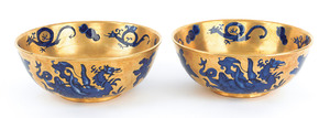 Pair of Mason's Ironstone gilt wash bowls with cob