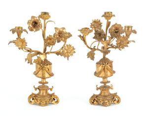 Pair of French ormolu candelabra, 14