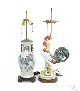 Chinese porcelain table lamp, 17