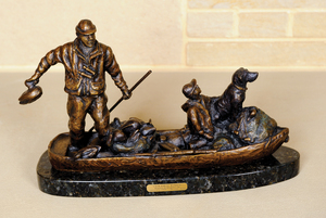 Ott Jones (American, 20th c.), bronze of a fathern