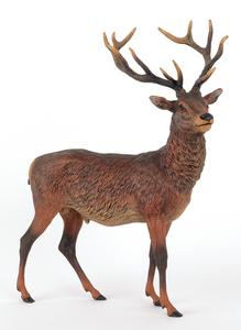 Large Austrian cold painted bronze elk, mid 20th c