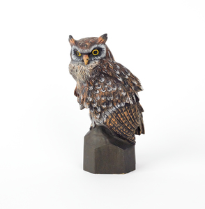 Austrian cold painted bronze owl, mid 20th c., 9 1