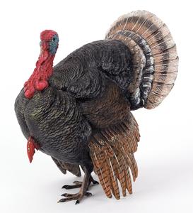 Austrian cold painted bronze turkey, mid 20th c.,