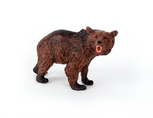Austrian cold painted bronze bear, mid 20th c., 5/