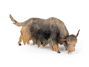 Austrian cold painted bronze musk ox, mid 20th c.,