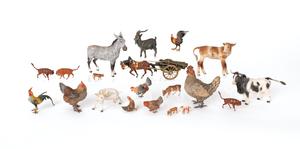 Twenty Austrian cold painted bronze farm animals,i