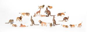 Twenty Austrian cold painted bronze wild animal fi