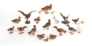 Twenty Austrian cold painted bronze ducks, mid 20t