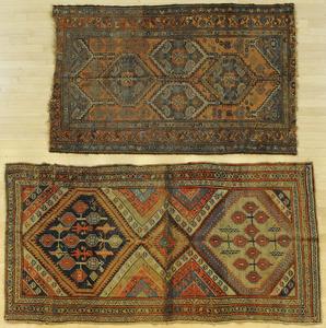 Two Hamadan carpets, ca. 1920, 6' x 4' and 7' 6