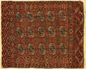 Turkoman mat, ca. 1910, 3' 9