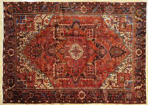 Modern Heriz carpet, 9' x 11'.