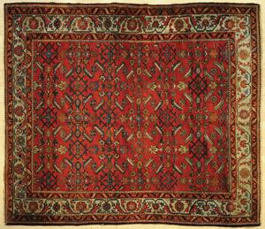 Hamadan carpet, ca. 1940, 6' 2