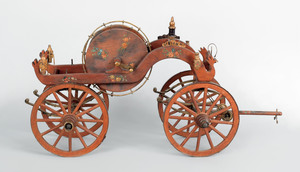 1860's style painted wood and iron model of a hand