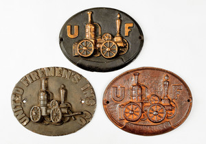 Three United Firemen's cast iron fire marks, issue
