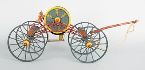 Early 20th c. painted wood model of a mid 19th c.p