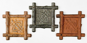 Three cast iron fire marks, ca. 1873, for Lumberme