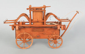 Early 20th c. wood model of an early 18th c. style