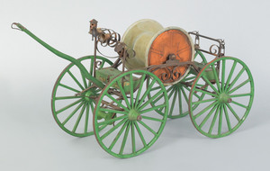 Painted wood model of a mid 19th c. style spider t