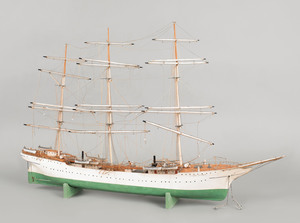 Finnish square rigged model, early 20th c., of the
