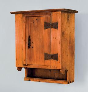 Pennsylvania walnut hanging cupboard, ca. 1740, wi