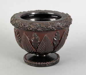 Pennsylvania redware footed bowl, mid 19th c., the