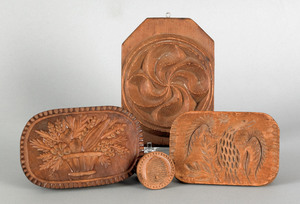 Four Pennsylvania butter presses, 19th c., to incl