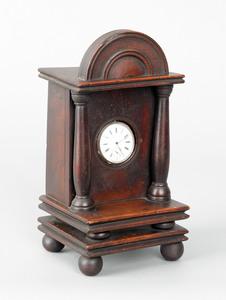 Pennsylvania walnut watch hutch, late 18th c., the