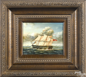 Contemporary oil on panel ship portrait