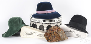 Three ladies hats by Borsalino