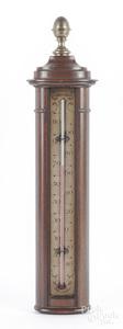 Contemporary mahogany cased barometer