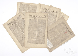 Four pages of the London Observator, dated 1684.