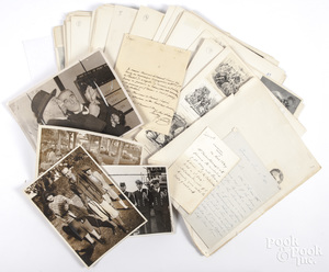 Large folio of prints and autographs