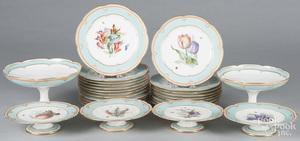 Porcelain fruit service by Lerosey
