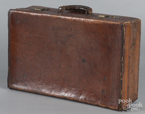 Leather briefcase, ca. 1900
