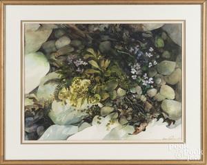 Jane Carlson (American b. 1930), watercolor