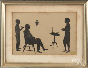 Cutwork silhouette, early 20th c.